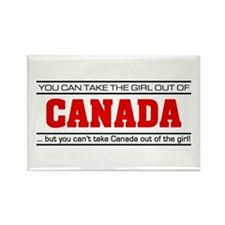 'Girl From Canada' Rectangle Magnet