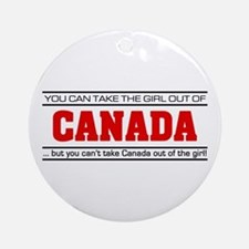 'Girl From Canada' Ornament (Round)
