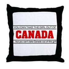 'Girl From Canada' Throw Pillow