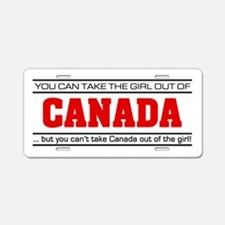 'Girl From Canada' Aluminum License Plate