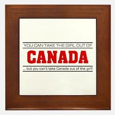 'Girl From Canada' Framed Tile