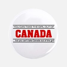 "'Girl From Canada' 3.5"" Button"