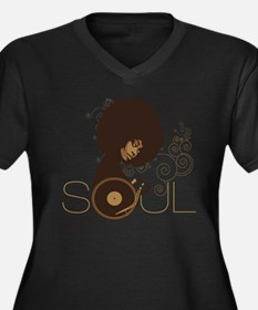 Soul III Women's Plus Size V-Neck Dark T-Shirt