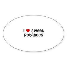 I * Sweet Potatoes Oval Decal