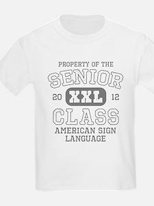 Senior 2012 ASL Honor Society T-Shirt