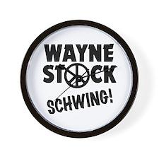 Wayne Stock Schwing! Wall Clock