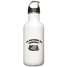 I'd rather be camping! Sports Water Bottle
