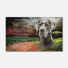 """Why God Made Dogs"" Great Dane Car Magnet 20 x 12"