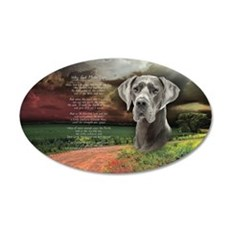 """""""Why God Made Dogs"""" Great Dane 22x14 Oval Wall Pee"""