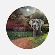 """Why God Made Dogs"" Great Dane Ornament (Round)"