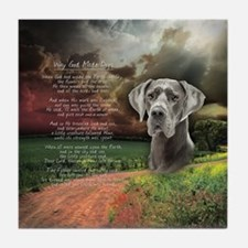 """""""Why God Made Dogs"""" Great Dane Tile Coaster"""