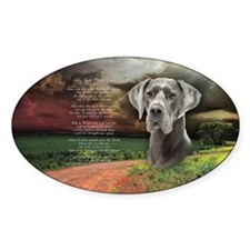 """""""Why God Made Dogs"""" Great Dane Decal"""