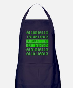 Gender is not Binary Apron (dark)