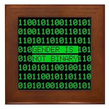 Gender is not Binary Framed Tile