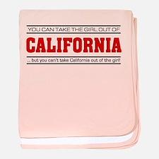 'Girl From California' baby blanket