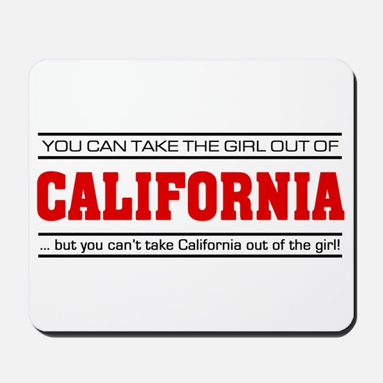 'Girl From California' Mousepad