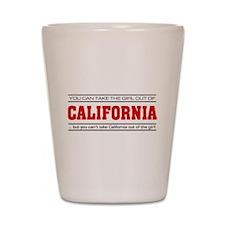 'Girl From California' Shot Glass