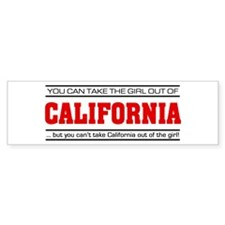 'Girl From California' Bumper Sticker