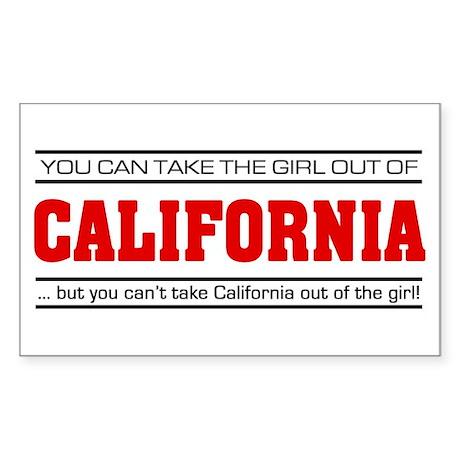 'Girl From California' Sticker (Rectangle)