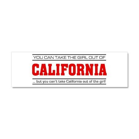 'Girl From California' Car Magnet 10 x 3