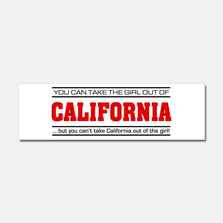 'Girl From California' Car Magnet 10 x 3