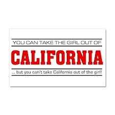 'Girl From California' Car Magnet 20 x 12