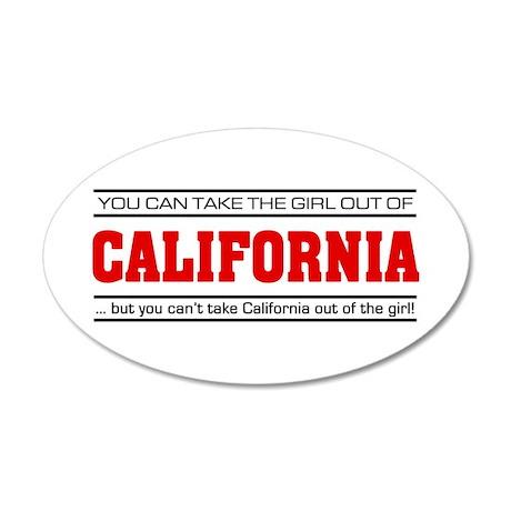 'Girl From California' 22x14 Oval Wall Peel