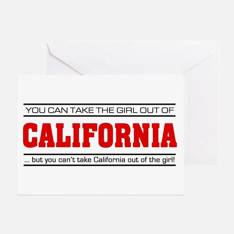 'Girl From California' Greeting Card