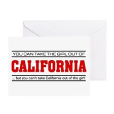 'Girl From California' Greeting Cards (Pk of 10)