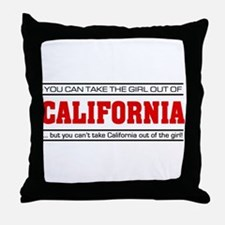 'Girl From California' Throw Pillow