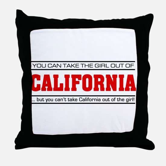 'Girl From California' Throw Pillow