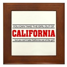 'Girl From California' Framed Tile