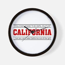 'Girl From California' Wall Clock