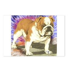 Cute Bulldog Postcards (Package of 8)