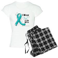 I Wear Teal Wife Ovarian Cancer Pajamas