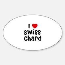 I * Swiss Chard Oval Decal