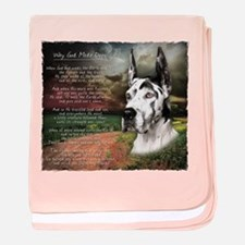 """""""Why God Made Dogs"""" Great Dane baby blanket"""