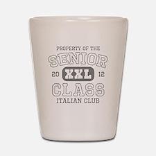 Senior 2012 Italian Club Shot Glass