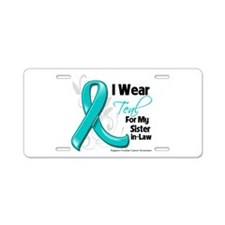 Sister-in-Law Ovarian Cancer Aluminum License Plat