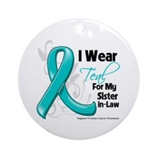 Sister-in-Law Ovarian Cancer Ornament (Round)