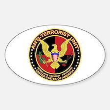 Anti Terrorist Unit RED Oval Decal