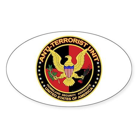 Anti Terrorist Unit RED Oval Sticker