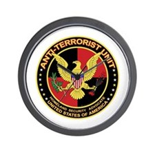 Anti Terrorist Unit RED Wall Clock