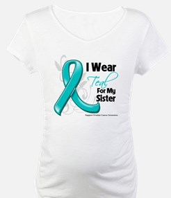 I Wear Teal Sister Ovarian Cancer Shirt