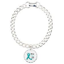I Wear Teal Sister Ovarian Cancer Bracelet