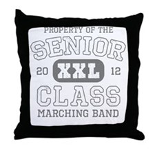 Senior 2012 Marching Band Throw Pillow