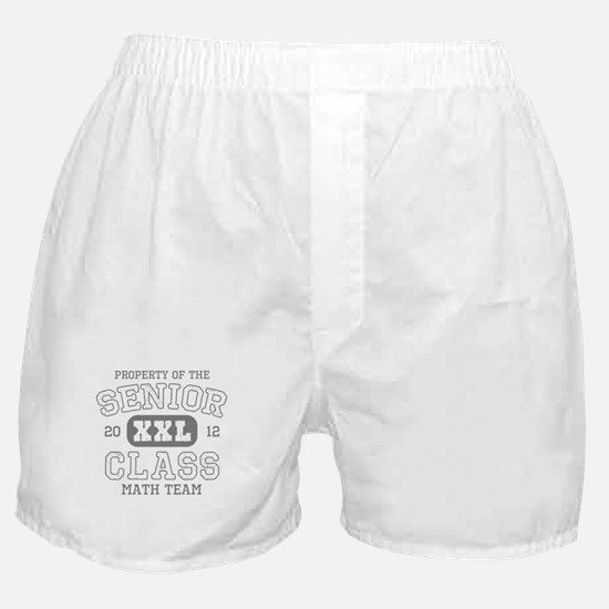 Senior 2012 Math Team Boxer Shorts