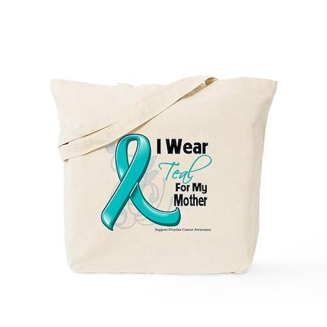 I Wear Teal Mother Ovarian Cancer Tote Bag