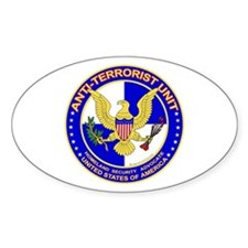 Anti Terrorist Unit BLU Oval Decal