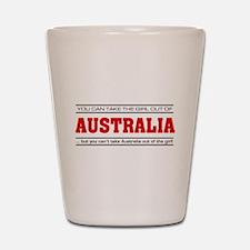 'Girl From Australia' Shot Glass